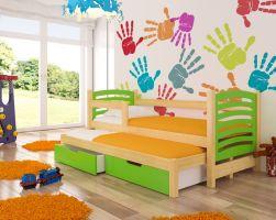 Dětská postel AVILA - zelená