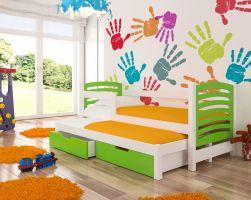 Dětská postel AVILA - zelená ADRK