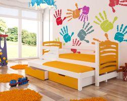 Dětská postel AVILA - oranžová ADRK