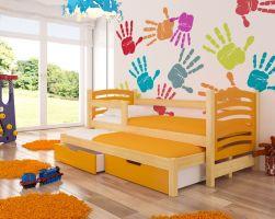Dětská postel AVILA - oranžová