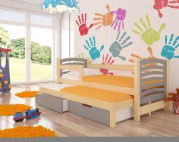 Dětská postel AVILA - šedá
