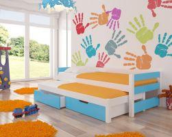 Dětská postel FRAGA - modrá