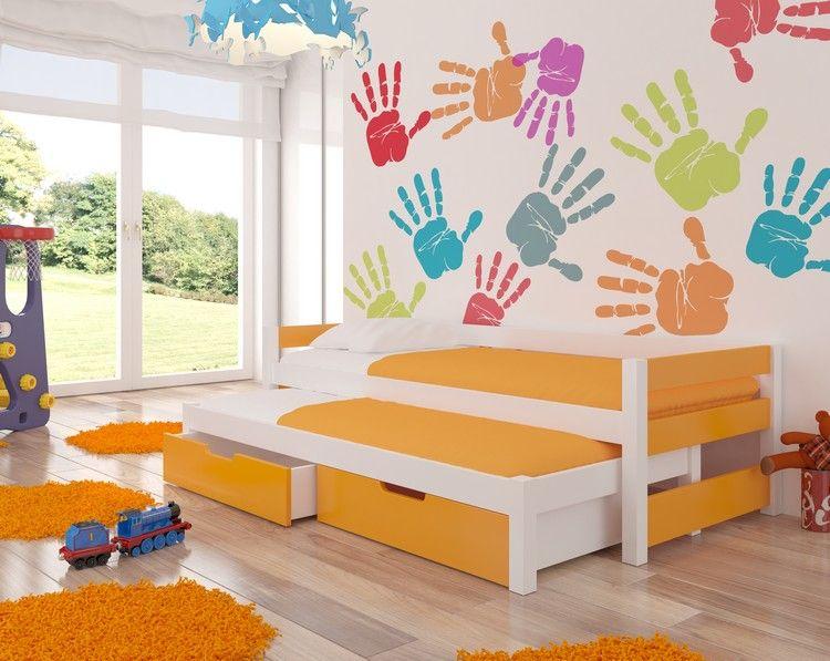 Dětská postel FRAGA - oranžová ADRK