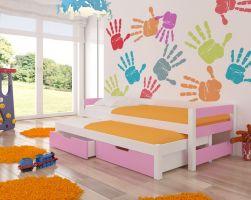 Dětská postel FRAGA - růžová