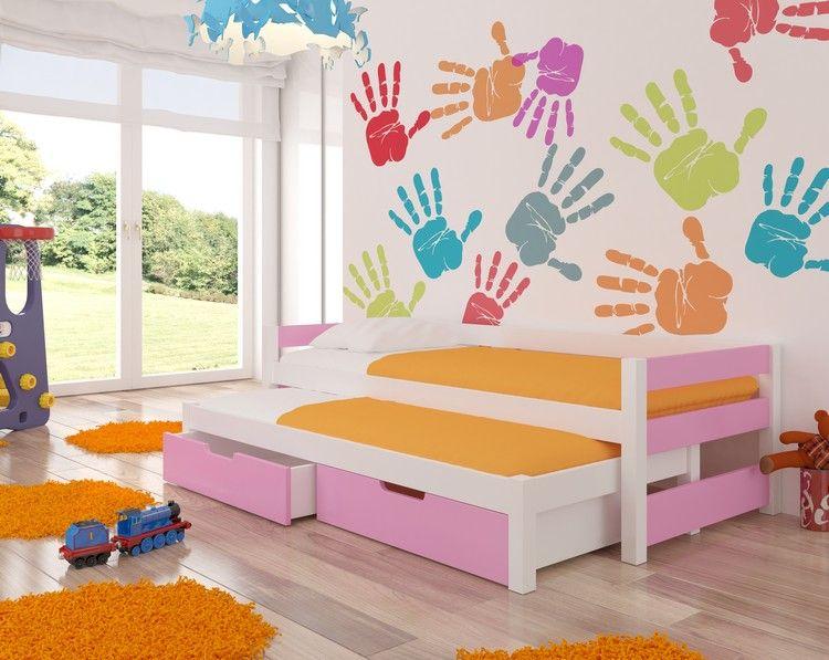 Dětská postel FRAGA - růžová ADRK