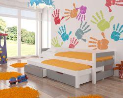 Dětská postel FRAGA - šedá
