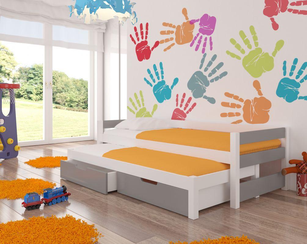 Dětská postel FRAGA - šedá ADRK