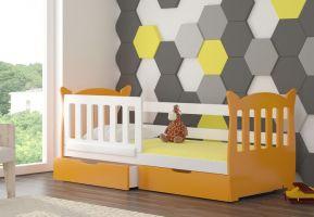 Dětská postel LENA - oranžová