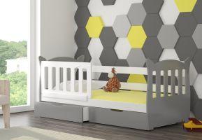 Dětská postel LENA - šedá