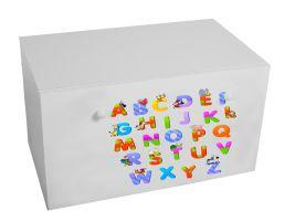 Dětský box na hračky se zásuvkou - Abeceda