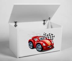 Dětský box na hračky s víkem - Auto ADRK