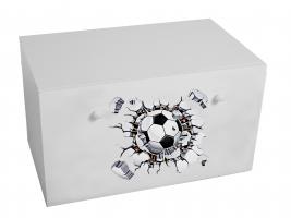 Dětský box na hračky se zásuvkou - Fotbal