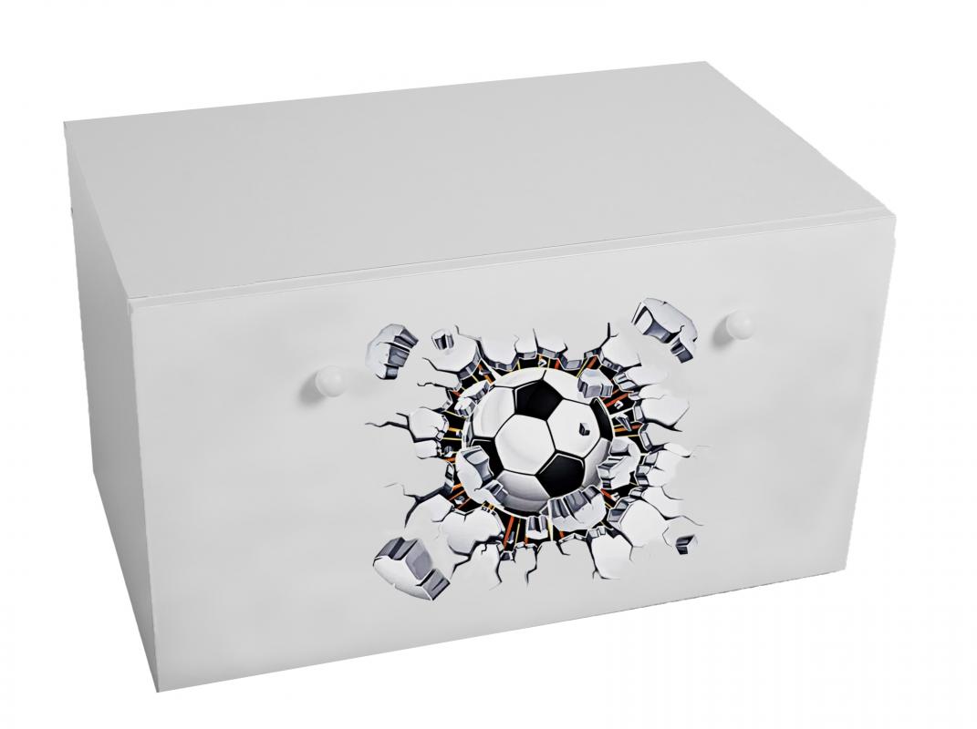 Dětský box na hračky se zásuvkou - Fotbal ADRK