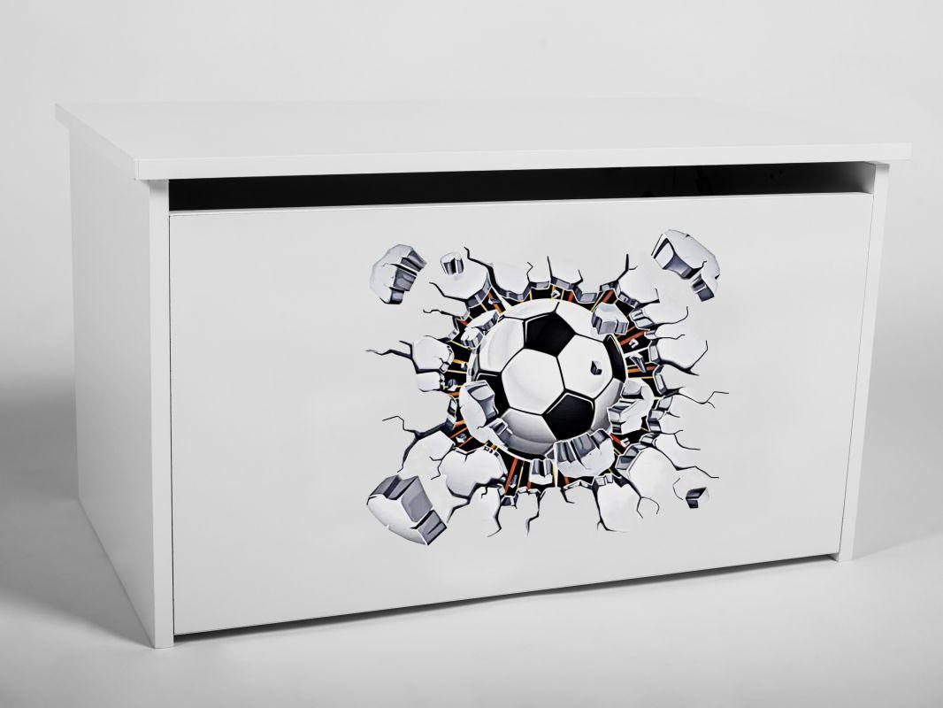 Dětský box na hračky s víkem - Fotbal ADRK
