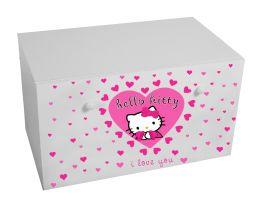 Dětský box na hračky se zásuvkou - Hello Kitty