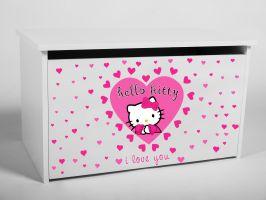 Dětský box na hračky s víkem - Hello Kitty