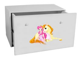 Dětský box na hračky se zásuvkou - Jednorožec ADRK