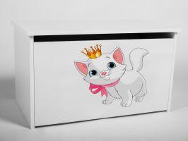 Dětský box na hračky s víkem - Koťátko