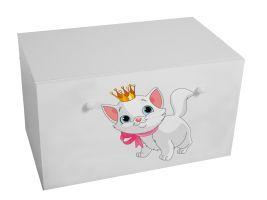 Dětský box na hračky se zásuvkou - Koťátko