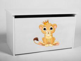 Dětský box na hračky s víkem - Lvíček