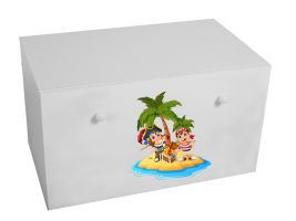 Dětský box na hračky se zásuvkou - Piráti