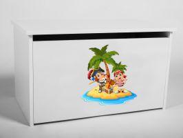 Dětský box na hračky s víkem - Piráti