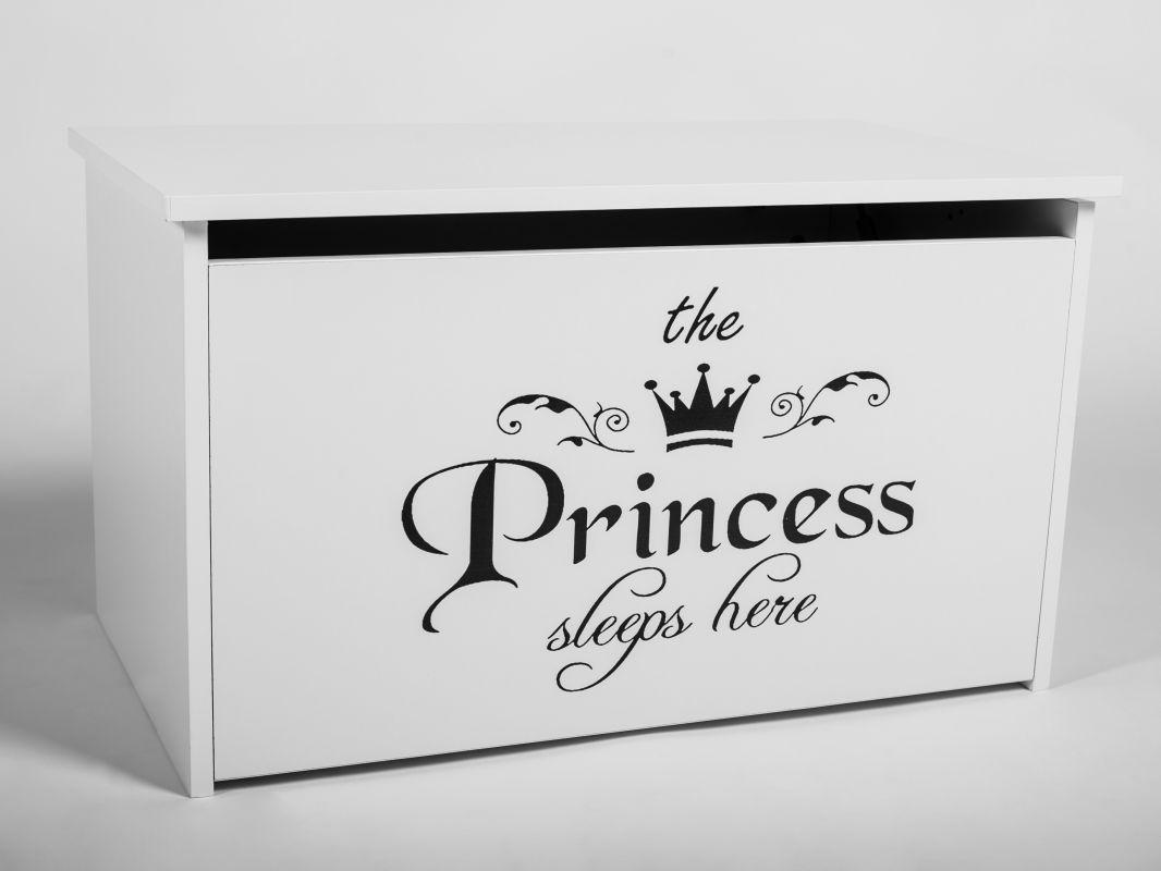 Dětský box na hračky s víkem - Princezna černá ADRK