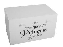 Dětský box na hračky se zásuvkou - Princezna černá