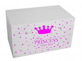 Dětský box na hračky se zásuvkou - Princezna růžová