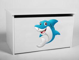 Dětský box na hračky s víkem - Žralok