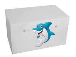 Dětský box na hračky se zásuvkou - Žralok