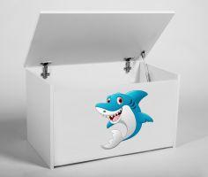 Dětský box na hračky s víkem - Žralok ADRK