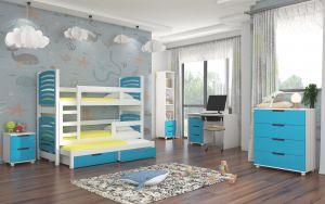dětský pokoj ROCCO - Bílá / Modrá