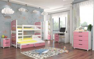dětský pokoj ROCCO - Bílá / Růžová