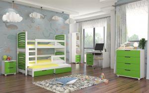 dětský pokoj ROCCO - Bílá / Zelená
