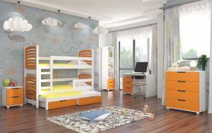 dětský pokoj ROCCO - Bílá / Oranžová