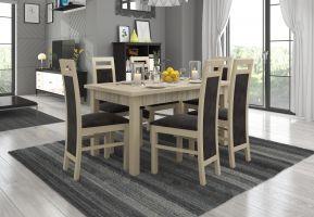 jídelní sestava RODOS 14 - 1 stůl + 6 židlí - Sonoma