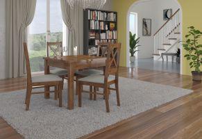 jídelní sestava RODOS 38 - 1 stůl + 4 židle - Lefkas