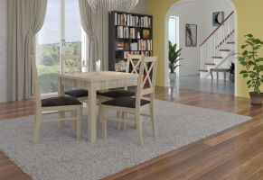 jídelní sestava RODOS 38 - 1 stůl + 4 židle - Sonoma