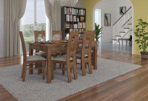 jídelní sestava RODOS 41 - 1 stůl + 6 židlí - Lefkas ADRK
