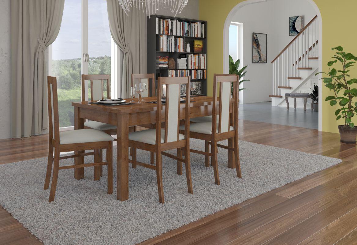 jídelní sestava RODOS 52 - 1 stůl + 6 židlí - Lefkas ADRK
