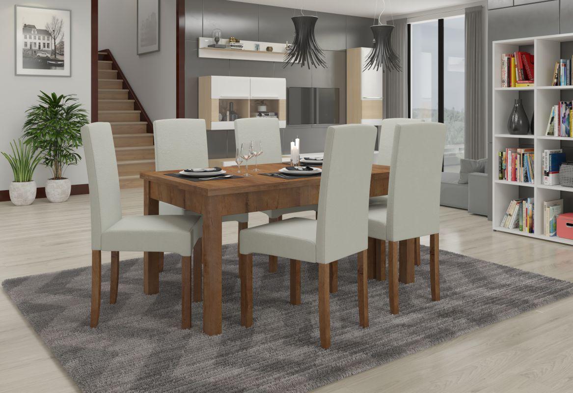 jídelní sestava RODOS 56 - 1 stůl + 6 židlí - Lefkas ADRK