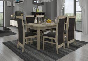 jídelní sestava RODOS 7 - 1 stůl + 6 židlí - Sonoma