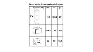 koupelnový set CARLO - Bílý / Bílý lesk, včetně umyvadla a sifonu ADRK