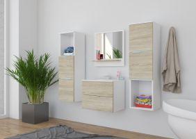 koupelnový set CARLO - Bílý / Sonoma