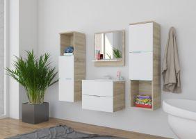 koupelnový set CARLO - Sonoma / Bílý mat