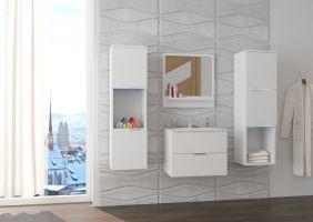 koupelnový set NESTO - Bílý / Bílý mat