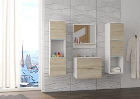 koupelnový set NESTO - Bílý / Sonoma