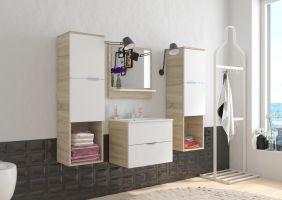 koupelnový set POLO - Sonoma / Bílý mat