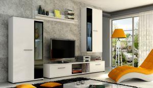 obývací stěna LEON - bílá mat